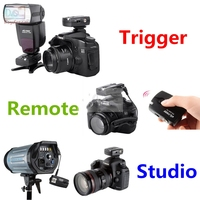 3in1 Wireless Remote Control + Speedlite / Studio Flash Trigger For Canon EOS 760D/750D/650D/600D/550D/70D/60D/100D/1000D/1100D