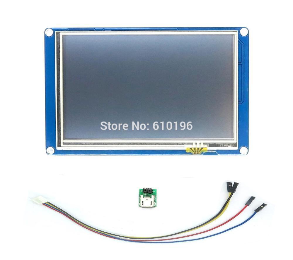 English Version Nextion 5 0 HMI Intelligent Nextion LCD Module Display For Arduino TFT Raspberry Pi