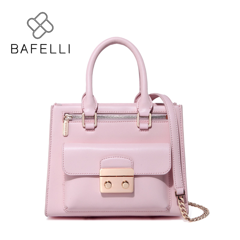 BAFELLI vintage red flap shoulder bag split leather classic black luxury crossbody bag women messenger handbag