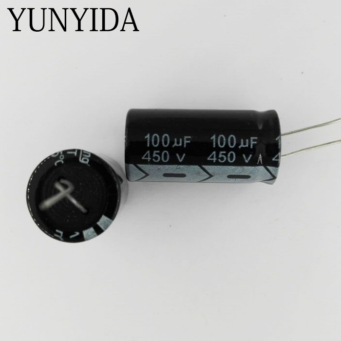 5pcs <font><b>450V</b></font> <font><b>100UF</b></font> 100uf450v Aluminum Electrolytic <font><b>Capacitor</b></font> image