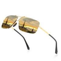 Men's Polarized Classic Frameless Rectangular Sunglasses, Heterosexual Circle, Square Glasses, Driving Mirror