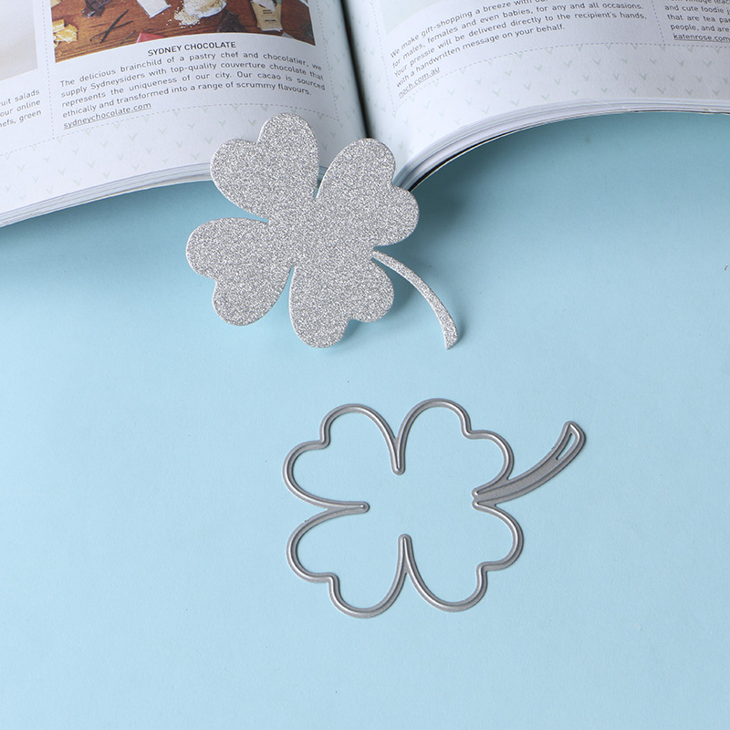 030151 four leaf clover leaves stencil metal Cutting dies for DIY papercraft project Scrapbook Paper Album greeting cards in Cutting Dies from Home Garden