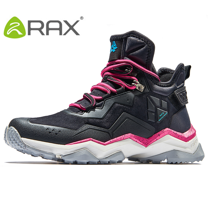 RAX Womens Hiking Shoes Waterproof Hiking Boots with Breathable Leather Upper & Anti-slip Natural Rubber Outsole Shoes Women