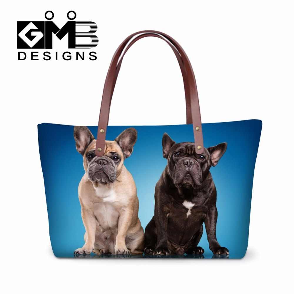 Casual Large Tote Bags Dog Pattern Women Dog Shoulder Handbags Big Bulldog Hand Bags for Girls Teenager Over the shoulder bags