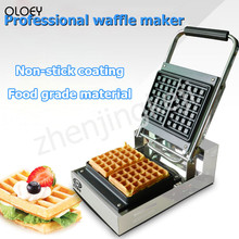 220V Commercial Waffle Maker Double-sided Constant Temperature Heated Belgian Square Waffle Machine Multi-doctor Waffle double head 220v commercial churros waffle maker