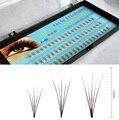 2cases eyelashes 5roots, professional grafting lashes extension, silk Korea individual eyelash extension 0.07C Curl 8-13mm