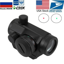 Tactical Holographic Red Green Dot Sight Rifle Scope Project Picatinny Rail Mount 20mm Ak 47(China)