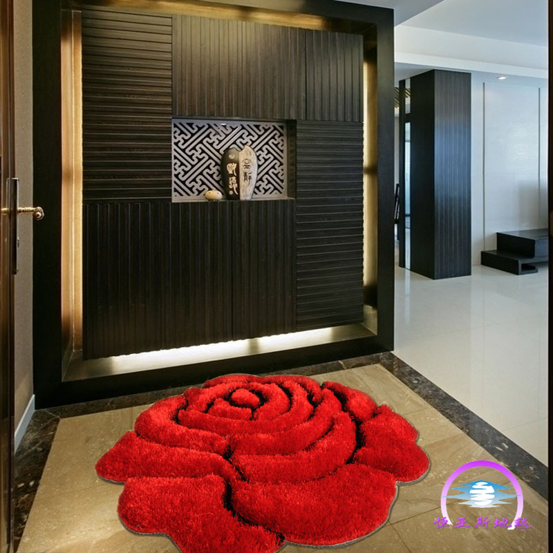 Red Carpet For Wedding Round Rose Carpets Chic Floral Rugs For Bedroom And Living  Room Flooring Mat Area Rug90x90cm FreeShipping In Carpet From Home ... Part 52
