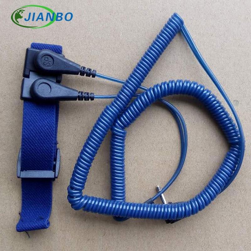 Anel de mão antiestático esd pulseira corda mão anel anti-estático banda de pulso anti-estática do laço duplo do plutônio