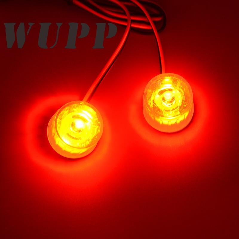WUPP Dual Motorcycle Eagle/ Cat Tail Light Universal Motorbike Warning Signal Light Rear Tail Lights Red Burst Flash