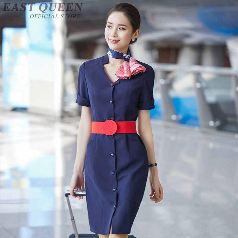 Униформа стюардессы полёта элегантные женские деловые офисные платья для особых случаев FF480