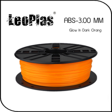 Worldwide Fast Delivery Manufacturer 3D Printer Material 1kg 2.2lb 3mm Glow In Dark Orange ABS Filament