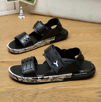 50b9fd7947f Summer sandals for men 2015 y3 male sandals slippers shoes breathable  casual men leather beach sandals flat fashion sandals-in Women s Sandals  from Shoes on ...