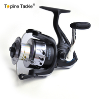 2017 Hot Sale Topline Tackle Free Shipping Spinning Fishing Reel 3+1BB,Silver Chrome Plastic Spool With Long Casting