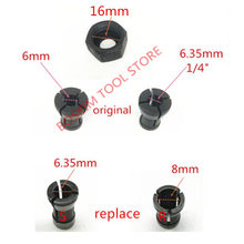 Collet Nut Replace for MAKITA 6.35mm 8mm RP0900 RT0700C RT0700CX3 RT0700CX2 3621 3621A 3620 MT361 763636-3 763637-1 1/4 router
