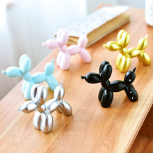 Cute Balloon Dog Resin Little Statue Crafts Animal Sculpture Birthday Party Baking Cake Decoration Art collection Creative Gifts