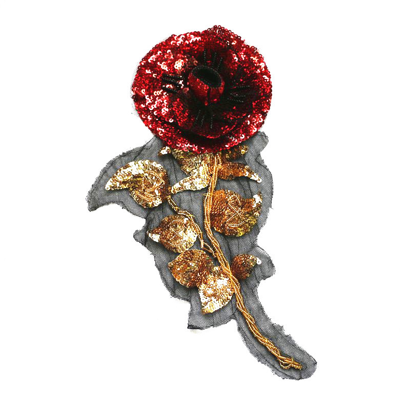 Cloth Patches, Fashion Accessories, Sequins, Beads, Roses, Flowers, Embroidery, DIY Decorations.