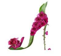 새로운 독특한 장미 하이힐 자수 바느질 공예 14CT 인쇄되지 않은 크로스 스티치 키트 아트 DMC DIY 품질 수제 장식