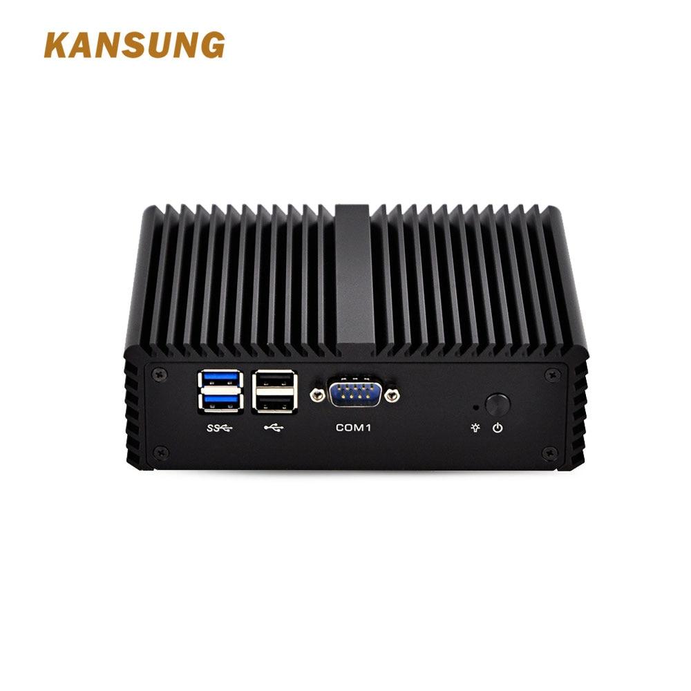 Mini-Itx Linux Fanless Mini PC Intel Core I3 Dual Lan 4*COM Windows 10 Industrial PC Desktop Computer