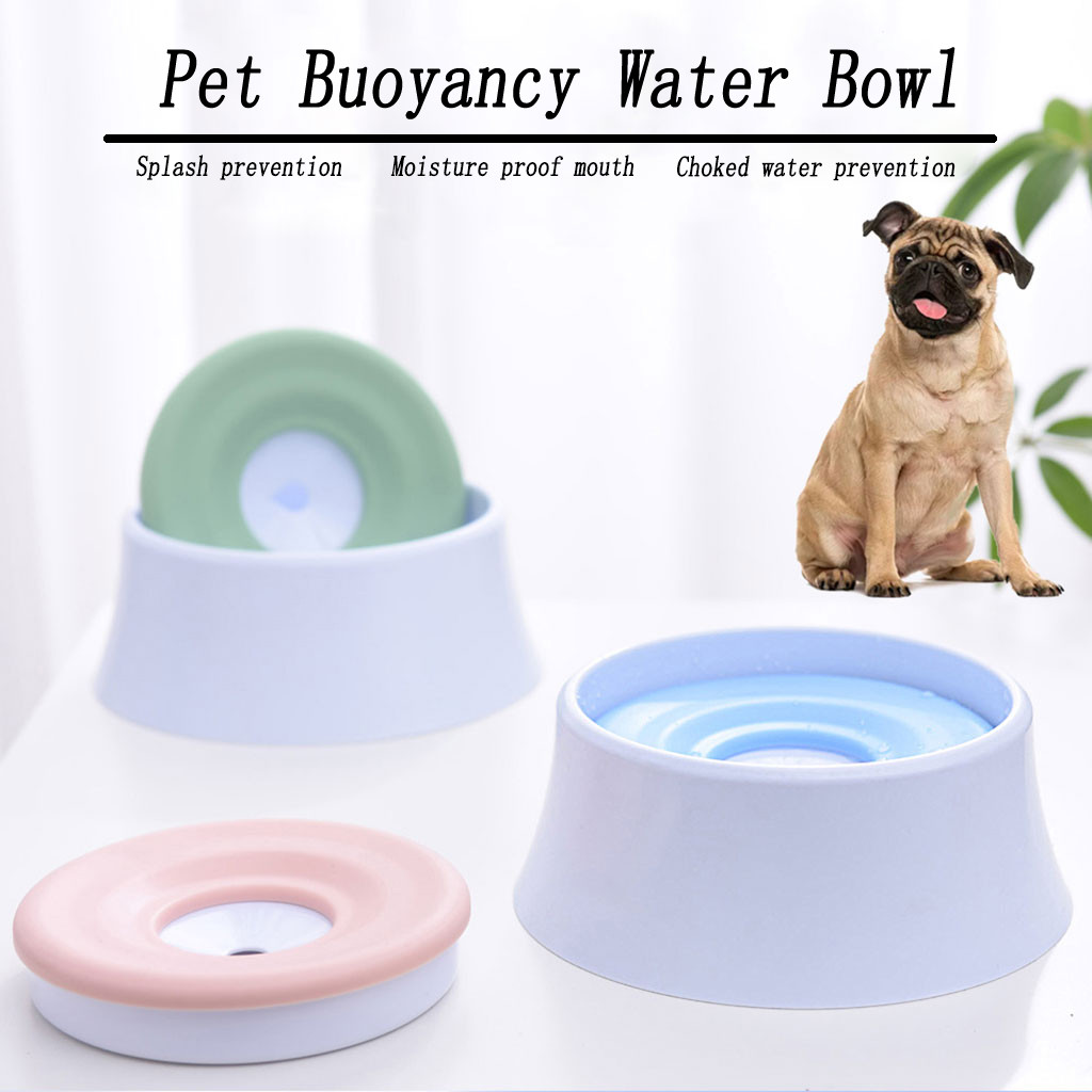 Pet Dog Drinking The Floating Tray Water Bowl Dog Water Pot Not Wet Mouth Cat Dog Water Bowl    W0415