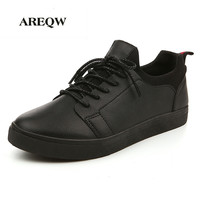 Men Casual Shoes Black White Flat Outdoor Wariking Saft Shoes The Autumn New Men S Casual