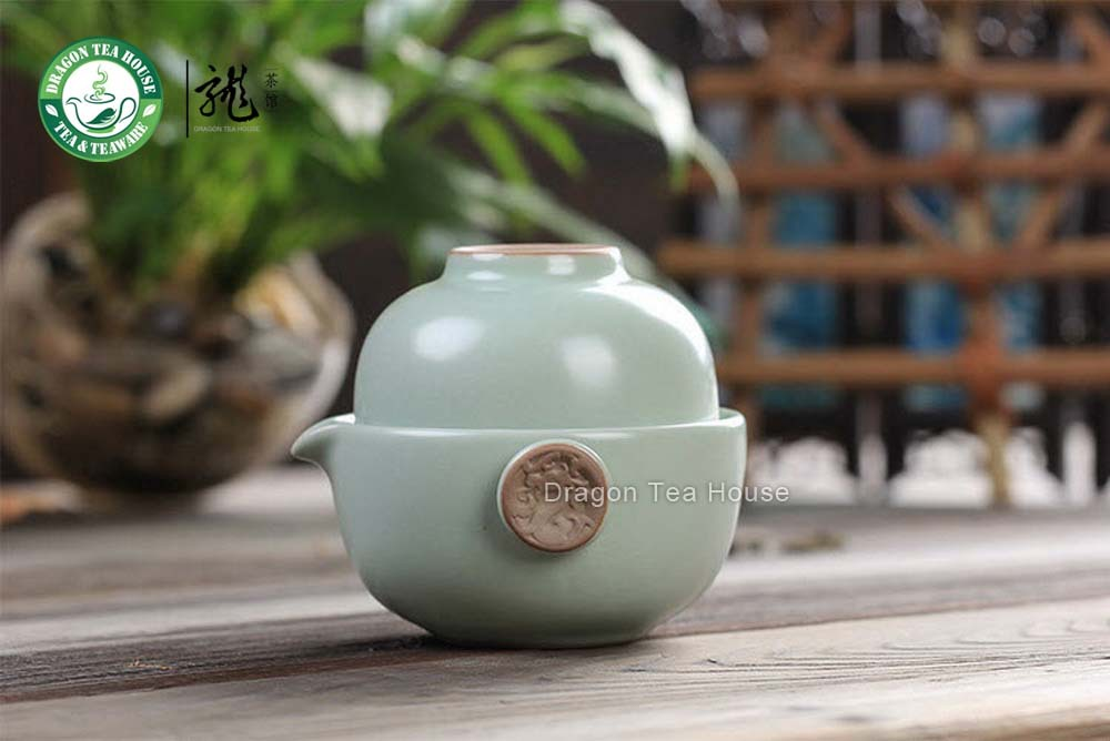 Ev ve Bahçe'ten Çay Takımı Setleri'de Xiang Uzun * Ru Fırın Seladonlar Kung Fu çay bardağı ve çaydanlık seti title=