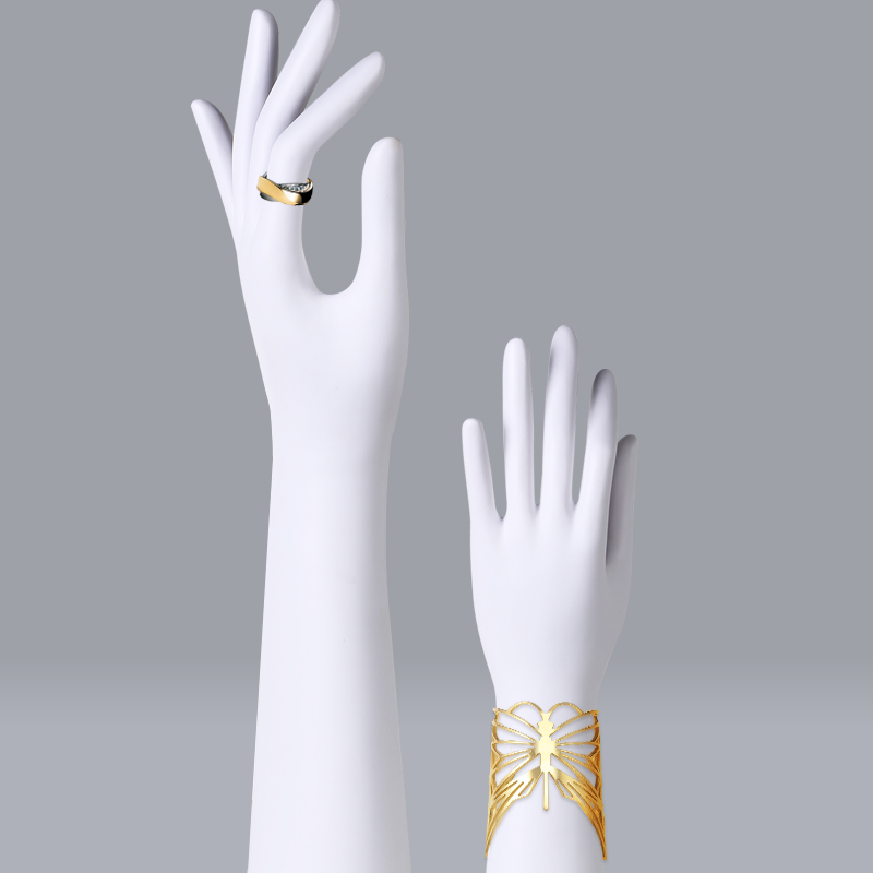Mannequins à la main bijoux femmes colliers doigt modèle chaussure portefeuille femmes vêtements accessoires mannequin fenêtre affichage montre blanc
