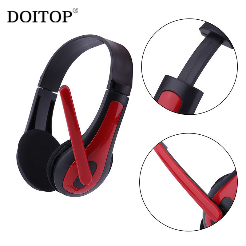 DOITOP Gaming Headset Bass Stereo Computer Game Headphones With Microphone 3.5mm Wired Headset Computer Laptop Game Headphone C4