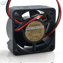 DHL Free Original KDE0504PKV1-A DC 5V 0.9W 0.06A 4020 40*40*20mm 2 Wires Computer Blower Double Ball Cooling Fan