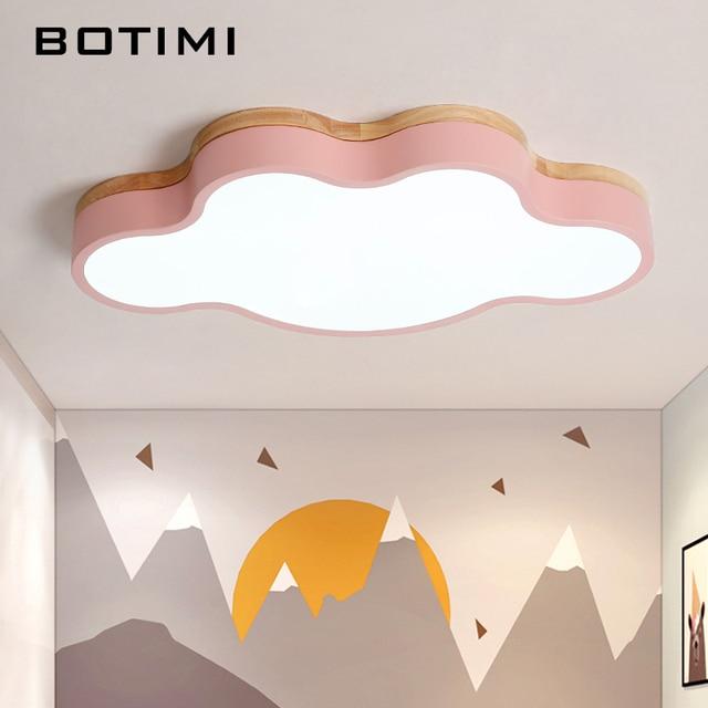 BOTIMI luces LED de techo en forma de nube con Control remoto, lámpara de techo moderna para sala de estar, accesorios de iluminación para dormitorio de niños