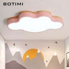 Botimi 구름 모양의 led 천장 조명 원격 제어 현대 천장 조명 거실 키즈 침실 조명기구