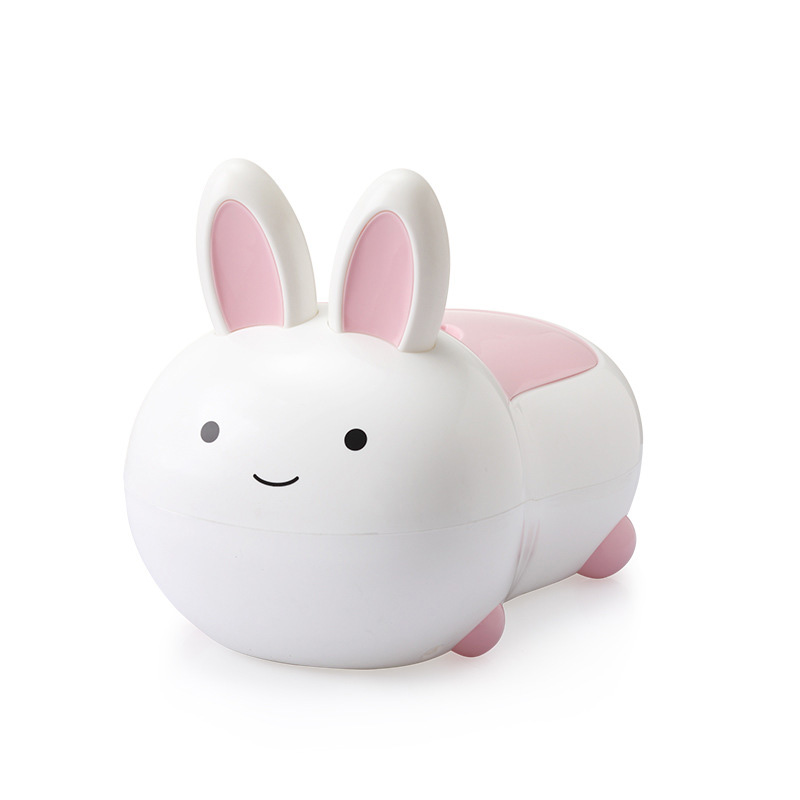 Children's Potty Lovely Rabbit Kid WC Plastic Baby Toilet Training Boy Girl Unisex Children's Pot Cozy Travel Portable Toilet