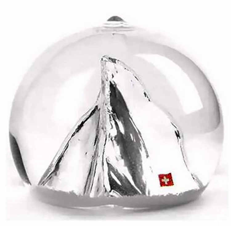 10*8CM Romantic Alps Snow Globes Glass Crystal Ball Home Desktop Decoration  Birthday Christmas New Year Gifts