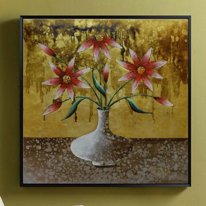 Современные художественные картины абстрактный цветок Экспрессия Виллем Haenraets масло на холсте Ручная роспись высокое качество настенные ф... - 3
