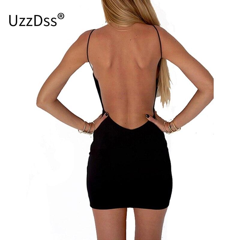 1c1ce3af4 Mujeres Vestidos Sexy vestido negro Backless Spaghetti Correa Mini vestido  Sundress venta descuento grande mujeres ropa Feida UZZDSS en Vestidos de La  ropa ...