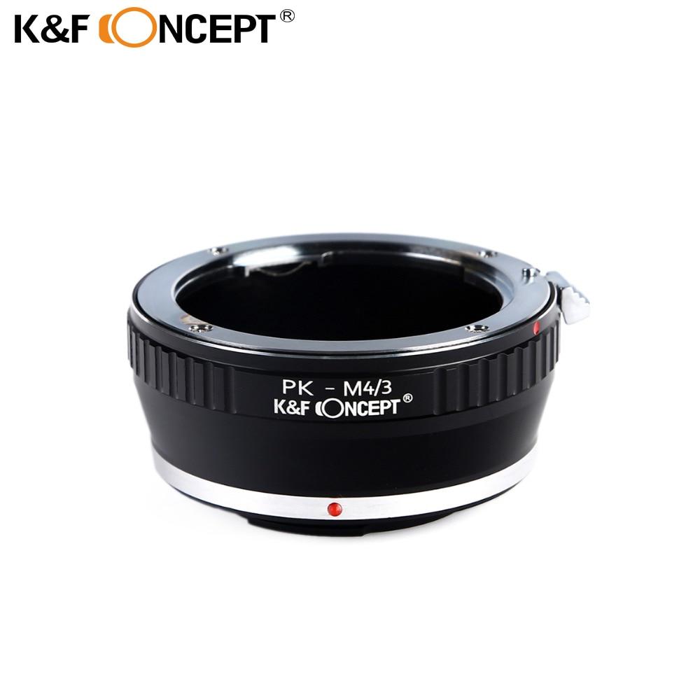 K&F CONCEPT Lens Mount Adapter for Pentax K PK Lens to Olympus Panasonic Micro 4/3 M4/3 Mount Camera Body free shipping 25mm f1 4 cctv lens macro rings c m4 3 adapter ring set for olympus panasonic camera silver