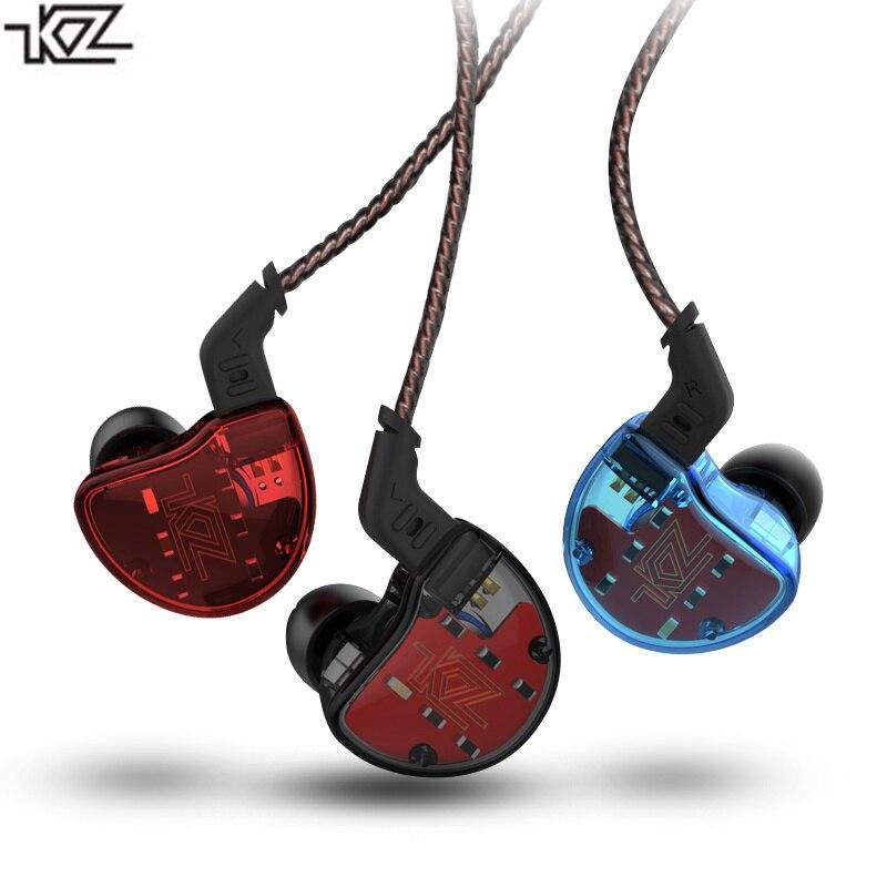 KZ ZS10 Oreille Crochet Écouteur 10 Pilote 5 Unité HIFI DJ Avec Microphone Courir Sport Casque Casque Pour Mobile Téléphone MP3 Lecteur