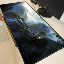 Mairuige Lord of The Rings Large Gaming Mouse Pad Lock Edge Mouse Mat Keyboard Mat Table Mat Desk Mat for Notebook Laptop Gamer anti slip large gaming desktop pad colorful blotter mat keyboard mat table mat desk mat for notebook laptop writing clipboard