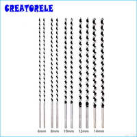 10pcs Set Wood Bits Quality Carbon Steel Sharp Twist Drill Bit For Electrical Drill Woodworking Tools