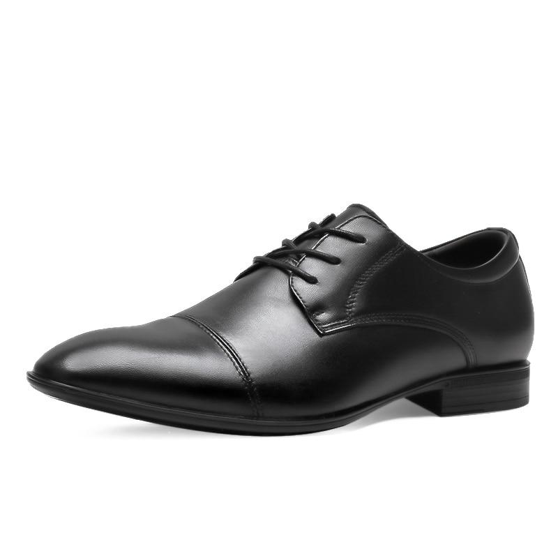 Tallas grandes 48 zapatos de hombre de marca de cuero Casual de moda negro azul marrón zapatos planos para hombres zapatos de negocios de envío directo * 6628
