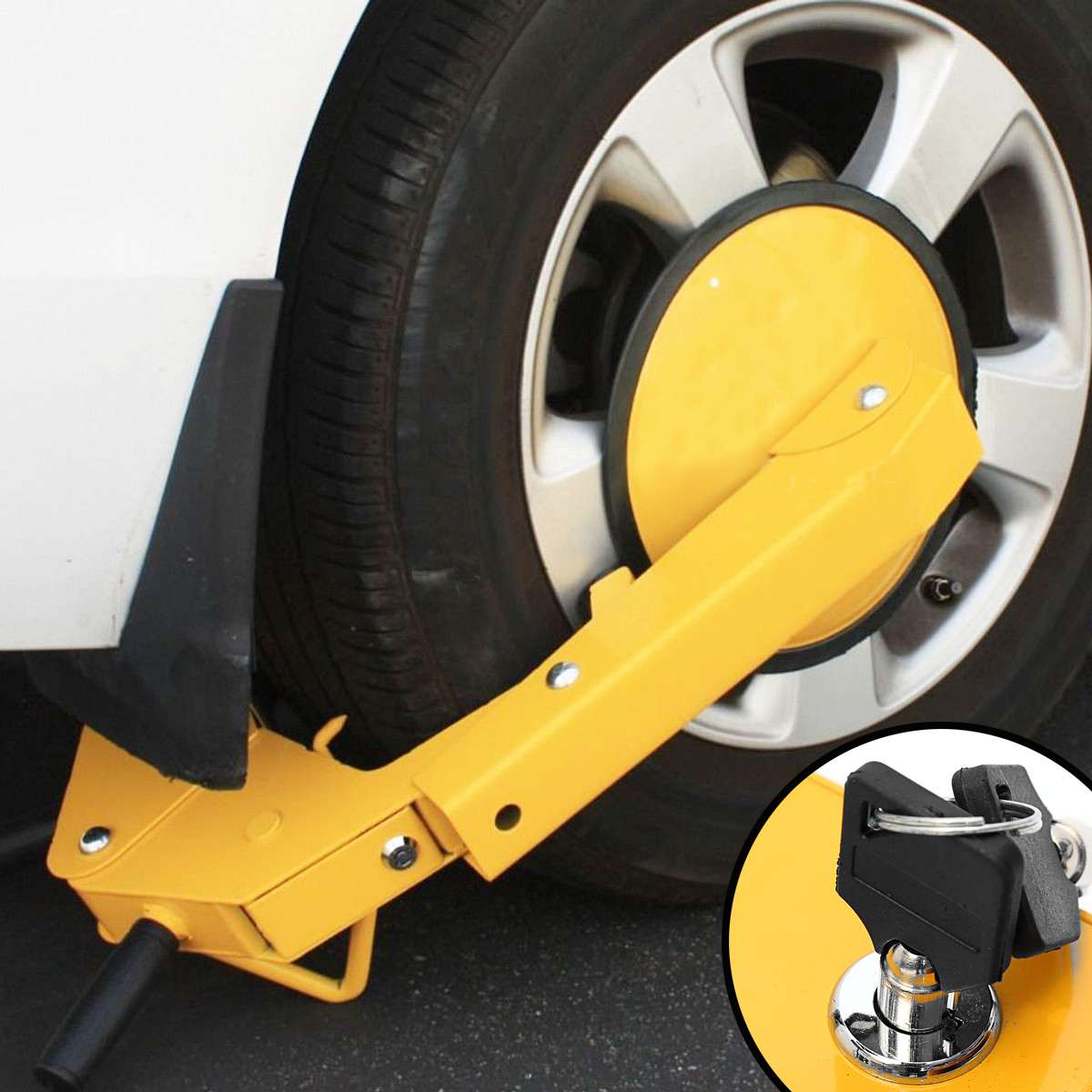 Car Tire Claw ATV RV Wheel Clamp Boat Truck Trailer Lock Anti Theft Parking