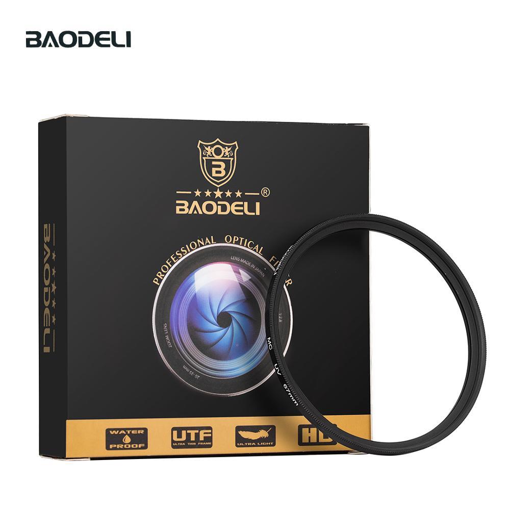 72 BAODELI Dslr Filtro MCUV Lens Filter 37 40.5 43 46 49mm 52 55 58mm 62 72 77mm 82 mm For Nikon D3500 Camera Canon M50 Sony A6000 (1)