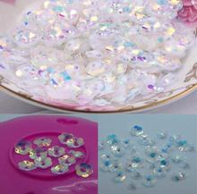 Fashion 2000pcs 8mm Plum Blossom Crystal with Golden undertone  sequins Jewelry Accessories cloth crafts confetti clothing