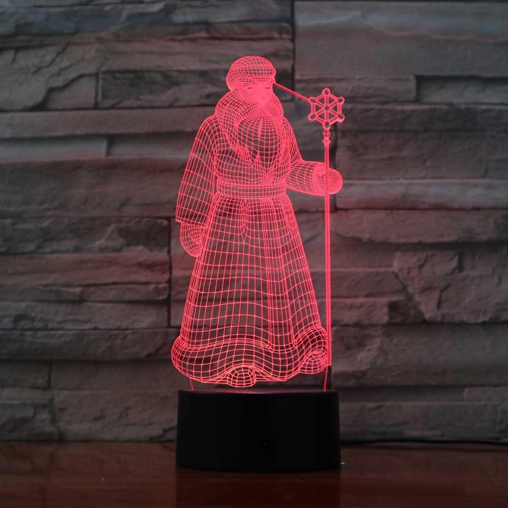 Creative 7 Color 3D Cartoon Characters Night Light Led Visual Game Usb Desk Lamp Bedroom Decor Holiday Baby Sleep Lighting Gifts