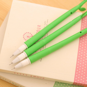 C106 lovely flowers fresh flower shape South Korea pen gift pen pen wholesale prize for students green leave image