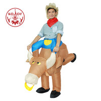Disfraces Adultos Child Halloween Cosplay Ride A Bull Inflatable Costume Fantasia Costumes For Men Boy S