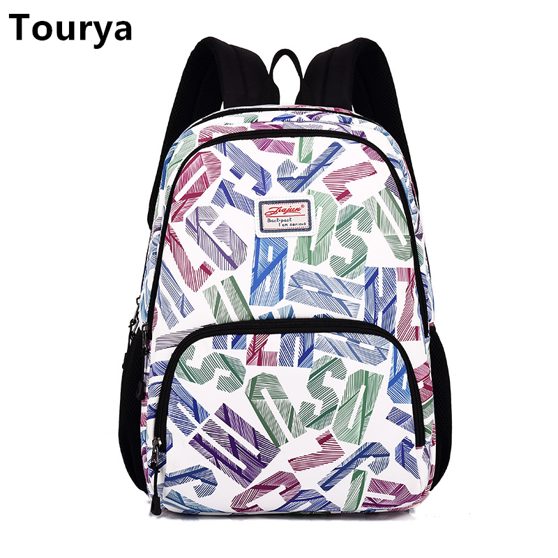 Tourya Vintage Oxford Women Backpack Casual Shoulder School Bags Bookbag For Teenagers Girls Schoolbag Laptop Bagpack Mochila tourya vintage canvas women backpack school bags schoolbag for teenagers girls floral printing travel laptop bagpack mochila