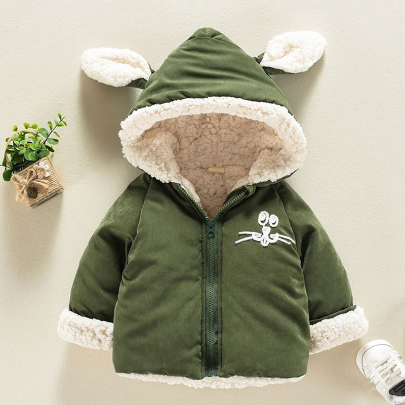 a20807fc1b0b winter baby boys girls hooded jackets for newborns babies clothes ...