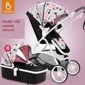 Deluxe Europea En1888 cochecito de bebé estándar y capazo, 2 en 1, sistema de viaje bebé, cochecito/cochecito de niño