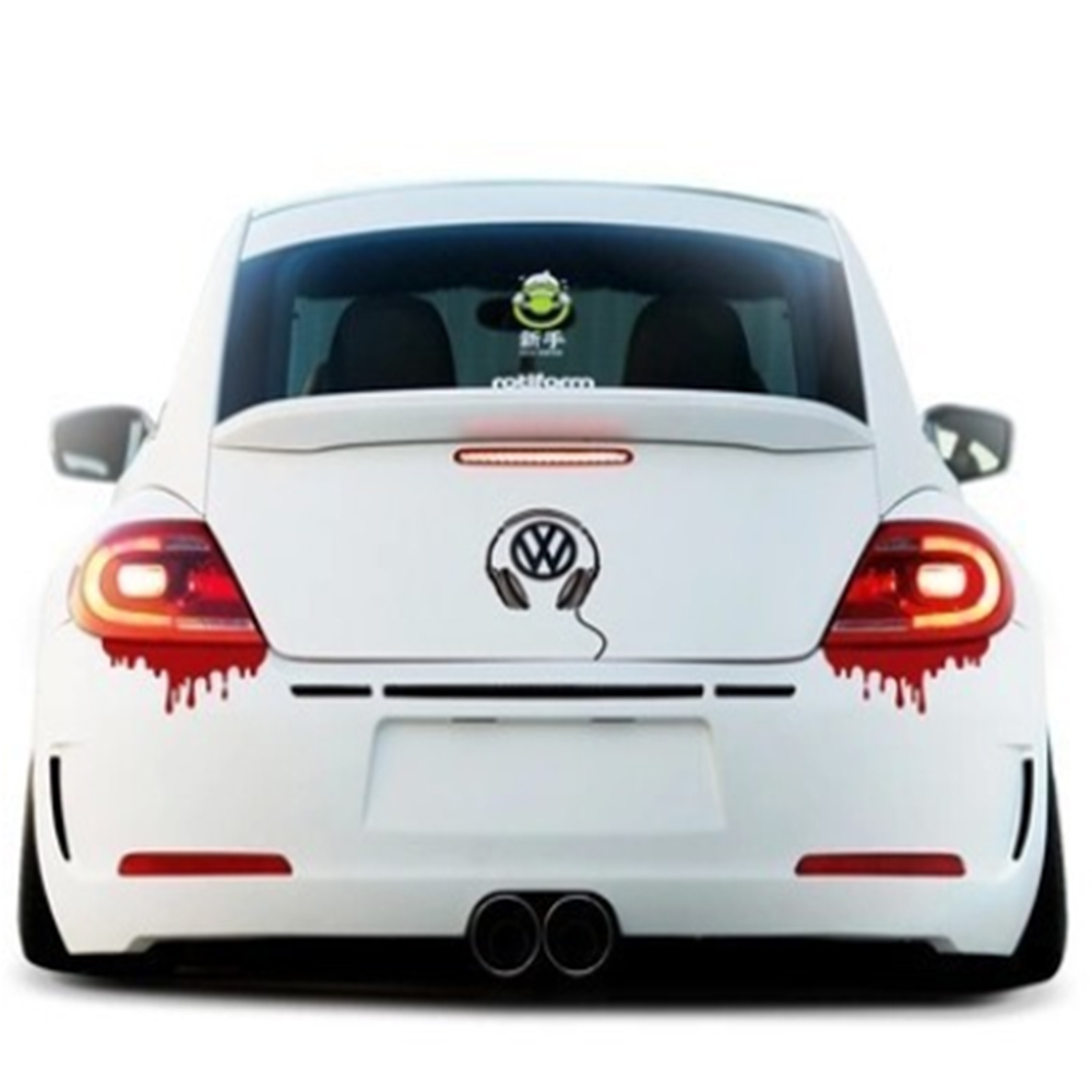 14*5cm Car Styling Bloody Hot Sale Funny Car Stickers and Decals Universal Vinyl Novelty Auto Tail Decor